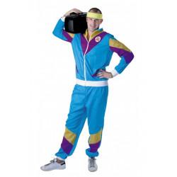 Déguisement jogging bleu 80's adulte mixte taille M-L Déguisements 865113