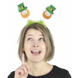 Serre tête bonhomme vert St Patrick Accessoires de fête 908262