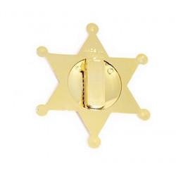 Étoile shériff métal doré Accessoires de fête 90420