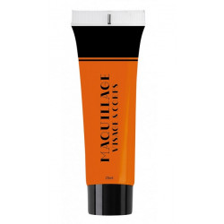 Maquillage à l'eau 25 ml UV fluo orange Accessoires de fête 90624
