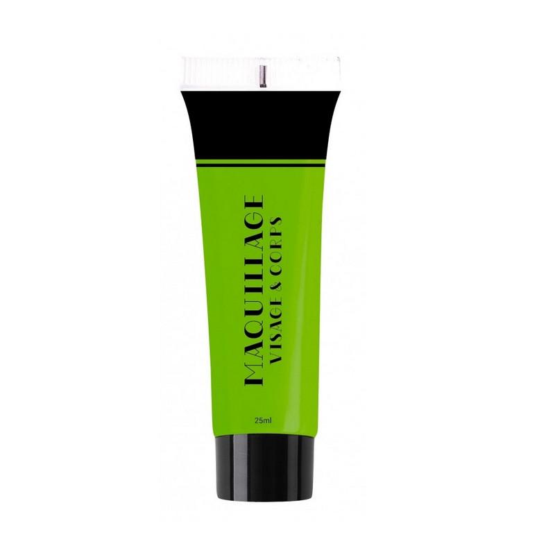 Maquillage à l'eau UV 25 ml fluo vert Fluo-néon-Lumineux 90625