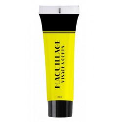 Maquillage à l'eau 25 ml UV fluo jaune Accessoires de fête 90626