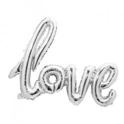 Ballon aluminium Love argent 73 cm Déco festive 333661