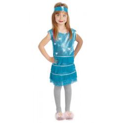 Déguisement charleston bleu fille 4-6 ans Déguisements 81551