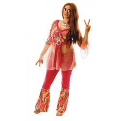 Déguisement hippie motif fleurs femme Déguisements 87286353