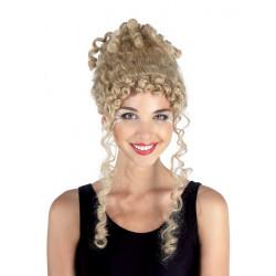 Perruque renaissance blonde femme Accessoires de fête 70971