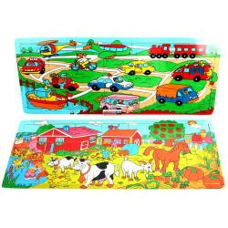 Puzzle en bois 21 pièces Jouets et articles kermesse 25901BG