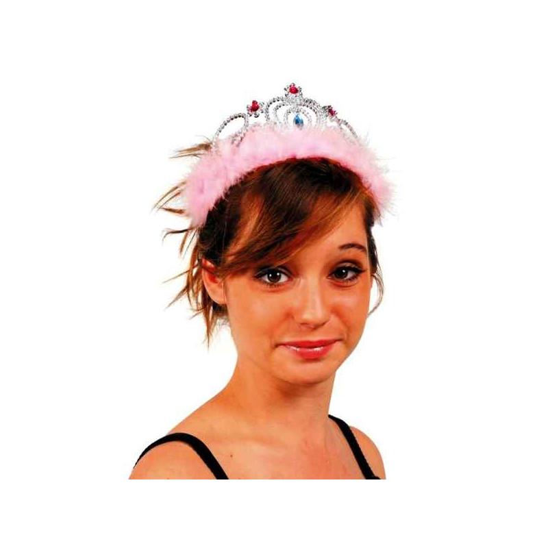Couronne princesse rose adulte Accessoires de fête MI004626