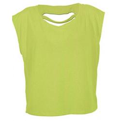 T-shirt jaune fluo coton femme Accessoires de fête LAX-JAUNE