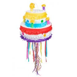 Pinata à tirer gâteau d'anniversaire Déco festive 30937