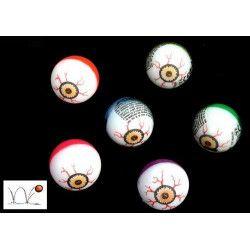 Balle oeil super rebondissante 3 cm vendue par 48 Jouets et kermesse 22078-LOT