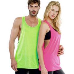 T-shirt débardeur fuchsia fluo UV adulte Accessoires de fête TABU-FUCHSIA