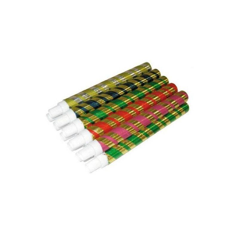Sachet de 12 sarbacanes métallisées Déco festive 22157