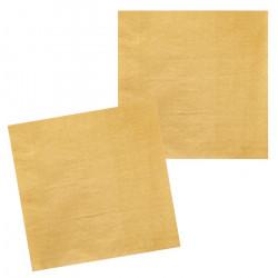 Sachet 12 serviettes papier or 33 cm Déco festive 20014BO