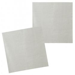 Sachet 12 serviettes papier argent 33 cm Déco festive 20015