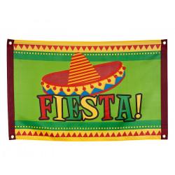 Drapeau mexicain Fiesta 90 cm Déco festive 54405