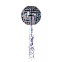Pinata boule disco 30 cm à tirer Déco festive 30948