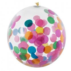 Ballons latex confetti multicolores 30 cm x 5 Déco festive 31050