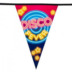 Guirlande fanions plastique disco fever 6 m Déco festive 750