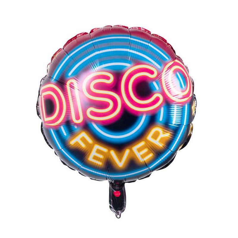 Ballon double face disco fever 45 cm Déco festive 758