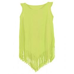 Robe indienne jaune fluo fille Déguisements POCAHONTAS-JAUNE