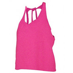 T-shirt dos nu fuchsia fluo UV femme Accessoires de fête SHAKI-FUCHSIA