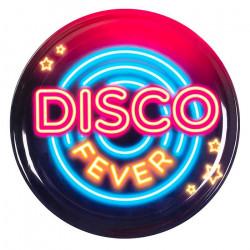 Plateau disco fever plastique 34.5 cm Déco festive 767