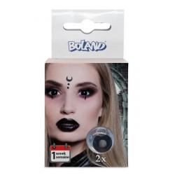 Lentilles fantaisie noires sorcière Halloween Accessoires de fête 40101
