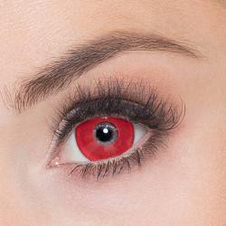 Lentilles fantaisie rouges diable Halloween Accessoires de fête 40103