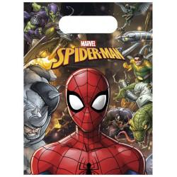 Sacs cadeaux Spiderman Team™ x 6 Déco festive LSPI89451