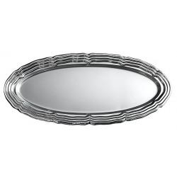 Plats ovales x 5 métallisés argent 58 x 30 cm Déco festive V55PLO580AR