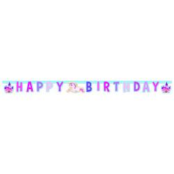 Guirlande Happy Birthday licorne Déco festive GLIC85676