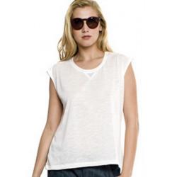 T-shirt blanc sans manches femme Accessoires de fête MARION-BLANC