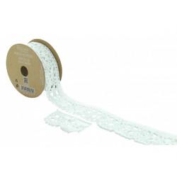 Ruban dentelle blanche adhésif 2 m x 2.5 cm Déco festive 2060BL