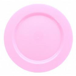 Assiettes Maje plastique rose 6 pièces 26 cm Déco festive 2447RO