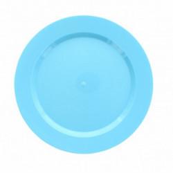 Assiettes Maje plastique bleu 6 pièces 19 cm Déco festive 2448BE