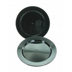 Assiettes Maje plastique noir 6 pièces 19 cm Déco festive 2448NO
