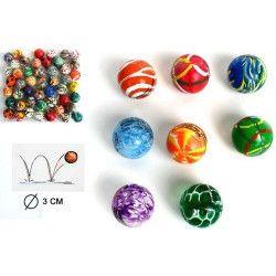 Balle super rebondissante 30 mm kermesse vendue par 48 Jouets et articles kermesse 22283-LOT