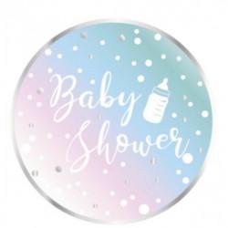 Assiettes carton baby shower 8 pièces 22.7 cm Déco festive 3140A