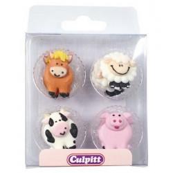 Décoration en sucre Culpitt animaux de la ferme Cake Design C323A