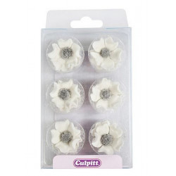 Décoration en sucre Culpitt anémones blanches Cake Design C356