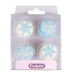 Décoration en sucre Culpitt flocons de neige Cake Design C376