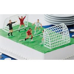Kit de décoration football pour gâteau 7 pièces Cake Design 03-9002