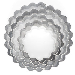 Biscuits emporte pièce anneaux cannelés Cake Design K052220