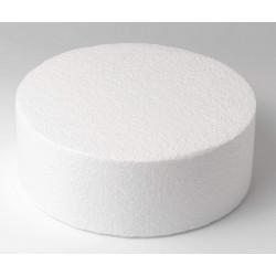 Support Dummy polystyrène gâteau rond 10x25cm Cake Design FC125RD
