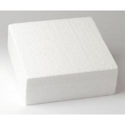 Support Dummy polystyrène gâteau carré 20x20cm Cake Design FC220VK