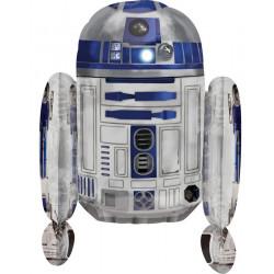 Ballon aluminium R2D2 Star Wars™ Déco festive 3039901