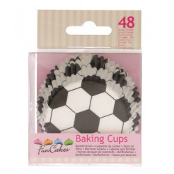 Caissettes à cupcakes football x 48 Cake Design FC4021