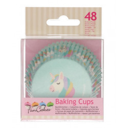 Caissettes à cupcakes licorne x 48 Cake Design FC4025
