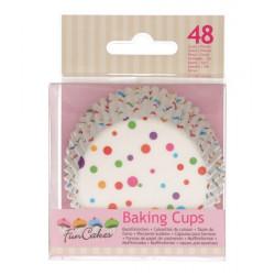 Caissettes à cupcakes confettis x 48 Cake Design FC4027